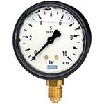 Model 113.13 WIKA Hydraulic Pressure Gauges - ABS Case with Liquid Filling Standard Series Bourdon Tube Pressure Gauge