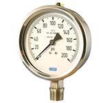 Model 132.53 & 133.53 WIKA Bourdon Tube Pressure Gauges - Economical Stainless Steel Gauge