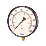 "Model 211.11 WIKA Bourdon Tube Pressure Gauges - ""Boiler Gauge"" Large Diameter Industrial Gauge, Brass Wetted Parts"