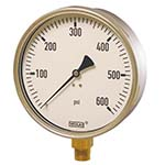 Model 212.20 WIKA Bourdon Tube Pressure Gauges - Industrial Series Gauge