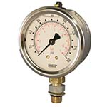 Model 212.53S & 213.53S WIKA Bourdon Tube Pressure Gauges - Dry or Liquid Filled Gauge with SAE Connection