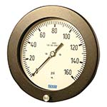 Model 232.25 WIKA Bourdon Tube Pressure Gauges - Hinged Ring Process Gauge, 316SS Wetted Parts