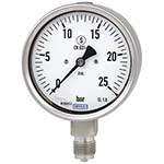 Model 232.30 & 233.30 WIKA Bourdon Tube Pressure Gauges - Stainless Steel Series - Solid Front Case