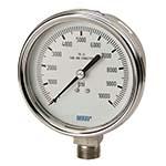 Model 232.54 & 233.54 WIKA Bourdon Tube Pressure Gauges - Industrial Stainless Steel Series