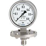 Model 432.50 & 433.50 WIKA Diaphragm Pressure Gauges - Process Industry Series Sealgauge Dry Case or Liquid-filled Case