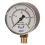 Model 611.10 & 631.10 WIKA Low Pressure Capsule Gauges - Copper Alloy Wetted Parts or Stainless Steel Wetted Parts