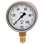 Model 612.20 WIKA Low Pressure Capsule Gauges - Stainless Steel Case, Copper Alloy Wetted Parts