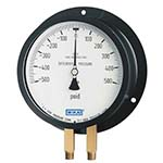 Model 712.25DX WIKA Duplex Pressure Gauges - Copper Alloy Wetted Parts, Aluminum Case, Bourdon Tube Series