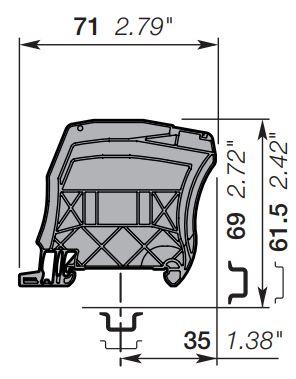 abb cs-r1 circuit separator dimensions
