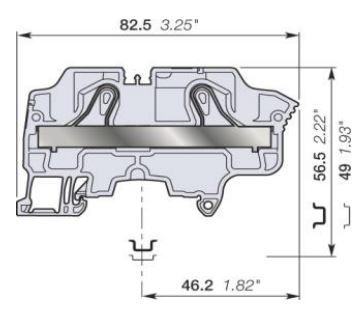 abb zk10 spring clamp terminal blocks dimensions