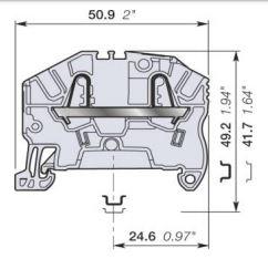 abb zk25 spring clamp terminal blocks dimensions