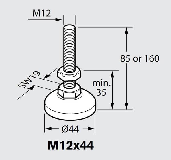 3842352061 Leveling Foot Bosch Rexroth Valin