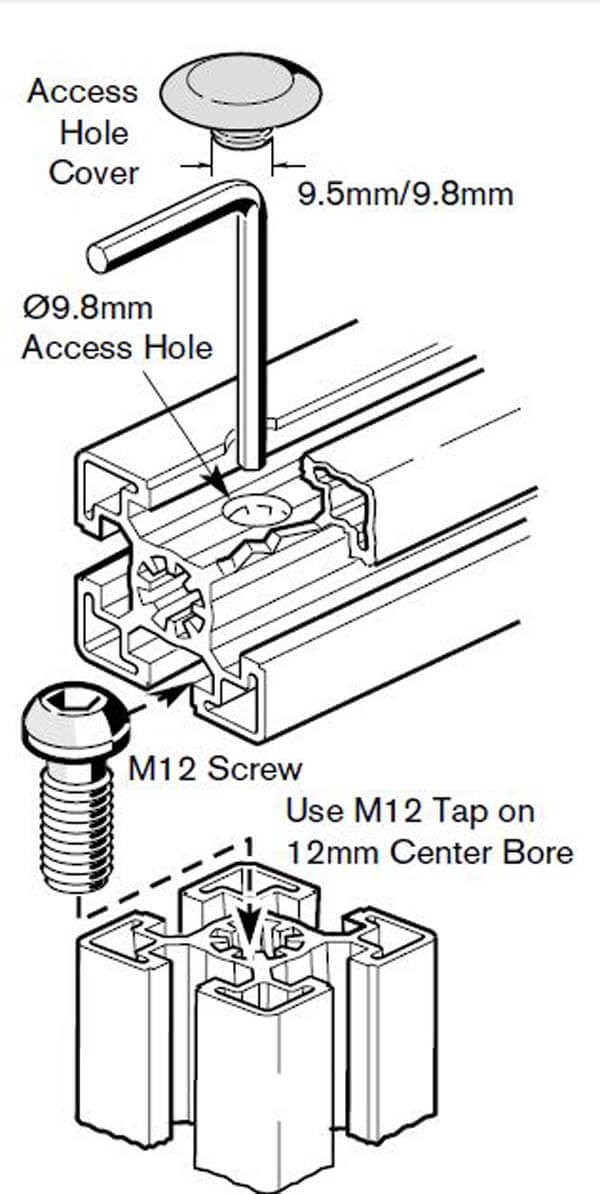 connection screws profile