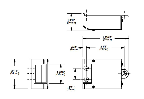 edwards door opener dimensions 2