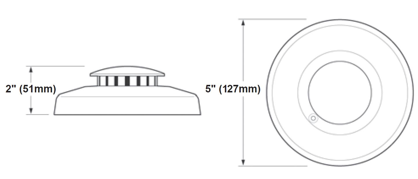 Kidde  photoelectric smoke detector dimensions
