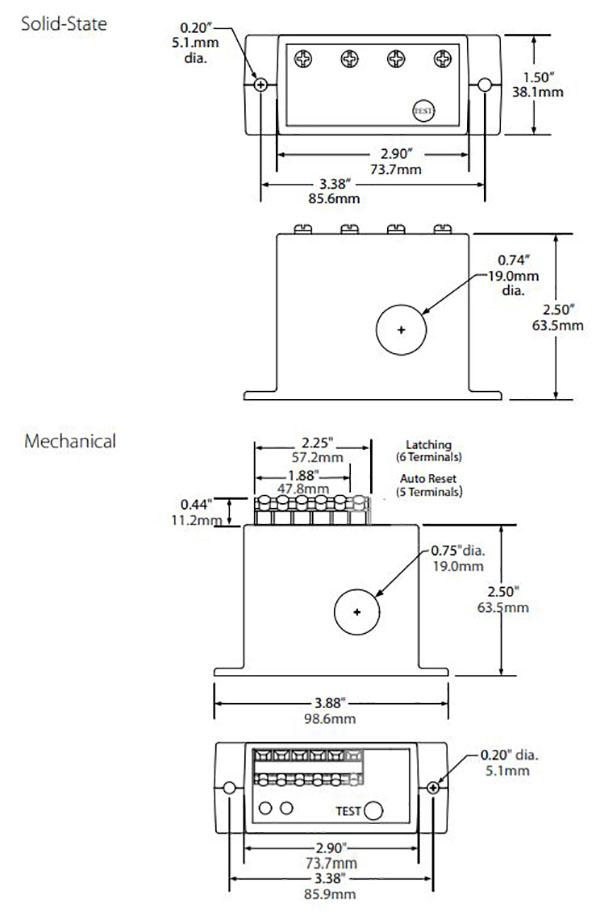 nk ag ground fault sensor dimensions