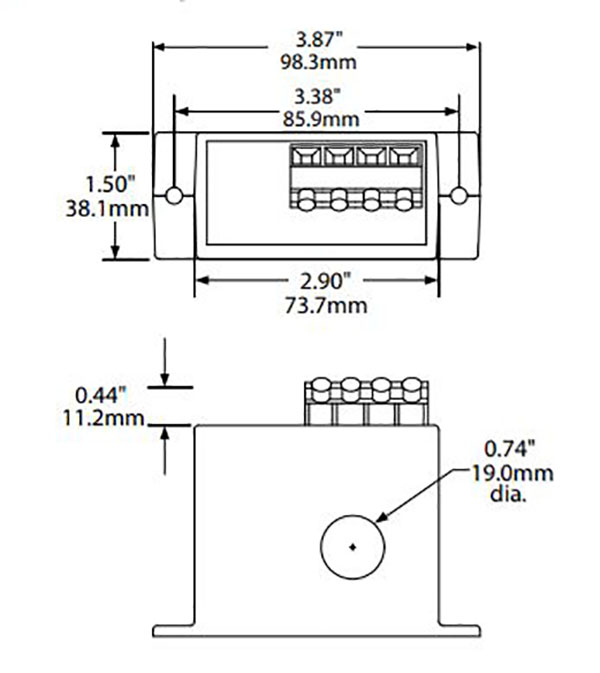 nk aps power transducer dimensions