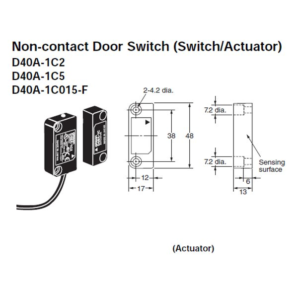 D40A-1C5 Omron | Non-Contact Door Switch | Valin on timer wiring diagram, dayton furnace wiring diagram, bourns wiring diagram, veeder root wiring diagram, grundfos wiring diagram, toshiba wiring diagram,