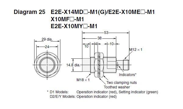 E2EX10ME1M1    Omron      Standard Proximity Sensor   Valin