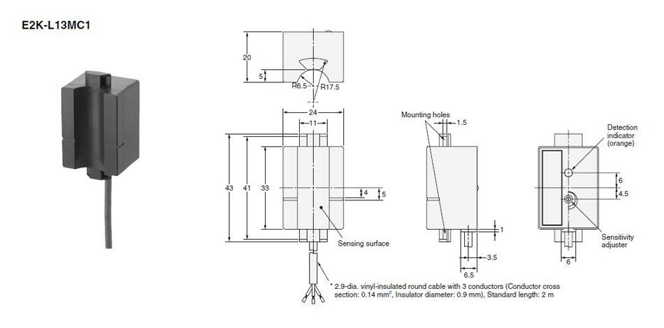 e2k-l13mc1 omron capacitive liquid level sensor