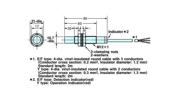 E2k X4mf1 Capacitive Proximity Sensor Omron Valin