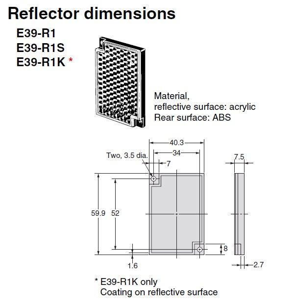 E39 R1s Omron Sensor Reflector Valin