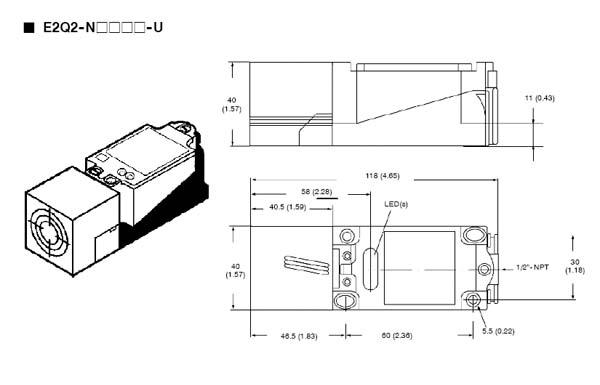 E2q2 N15y4 U Standard Proximity Sensor Omron Valin