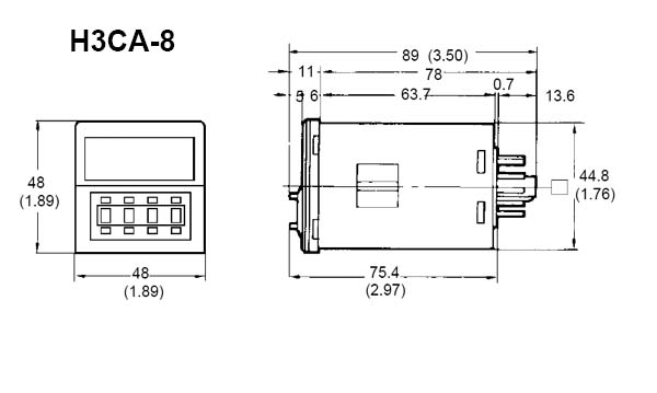 H3CA-8-AC100/110/120 Omron   Digital Timer   Valin on