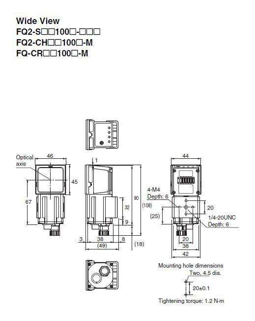 fq2-s40100n-08m omron vision sensor smart camera