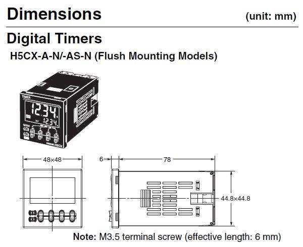 H5CX-A-N AC100-240 Omron | Multi-Function Digital Timer | Valin on