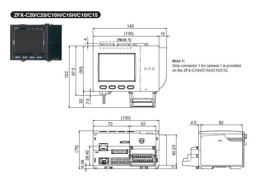 zfx-c10 omron smart sensor (vision sensor with built-in lcd monitor)
