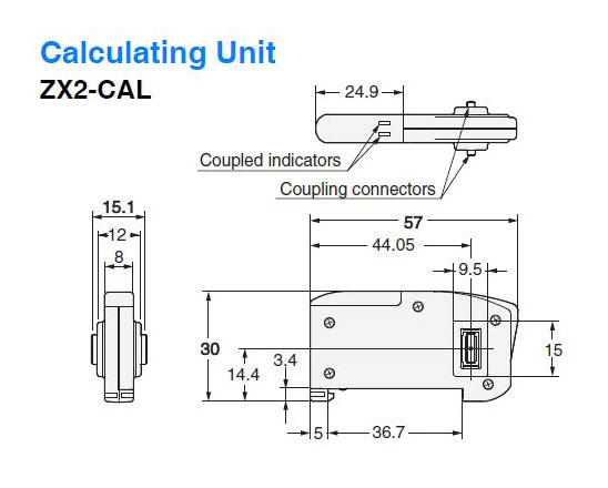 zx2-cal omron measurement sensor laser displacement cmos-type cable