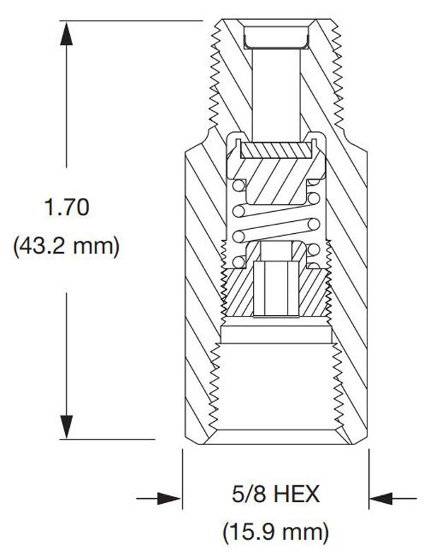 parker vr7 series dimensions