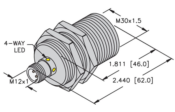 turck 30mm embeddable eurofast inductive sensor profile