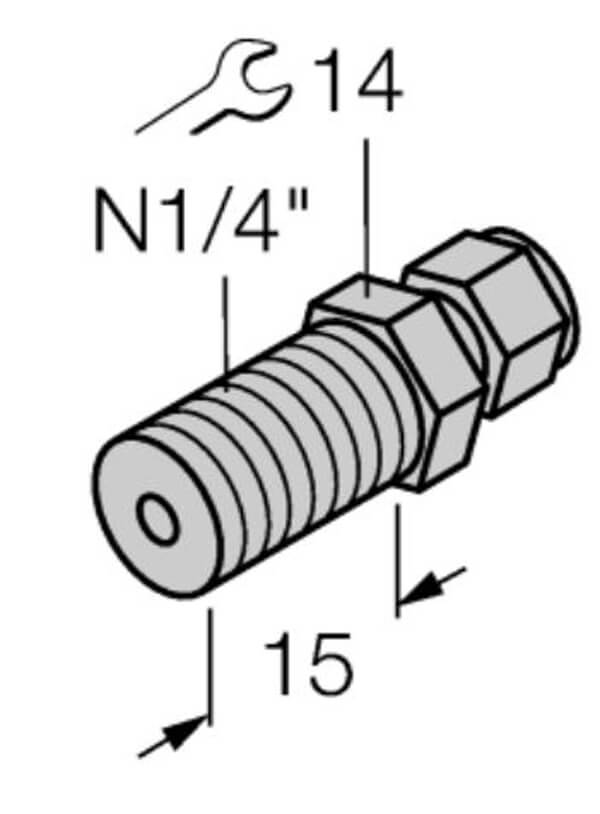 turck 3mm compression fitting profile