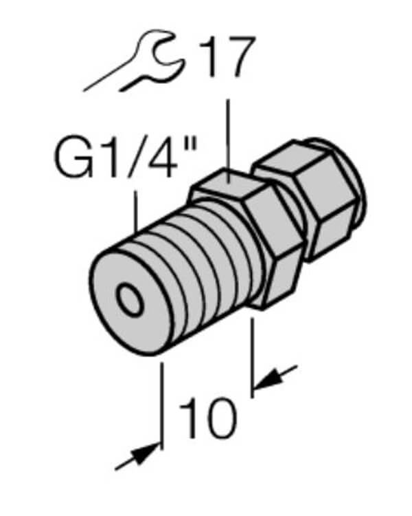 turck 6mm compression fitting 17 profile