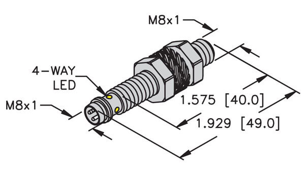 Turck 8mm Embeddable picofast Mini Threaded Barrel Sensor Profile