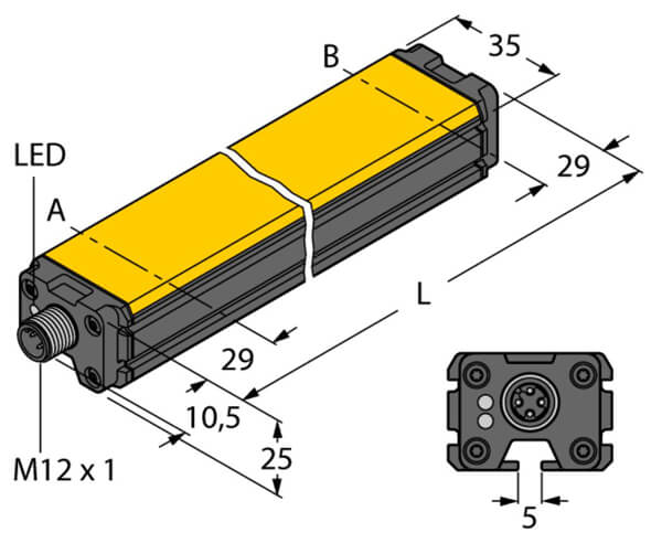 turck inductive linear position sensor profile