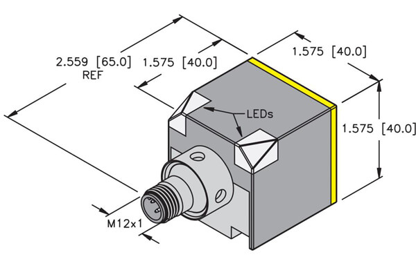 turck inductive rectangular ck40 sensor profile