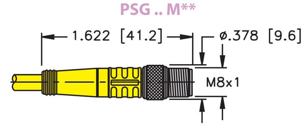 turck m8 picofast 3 wire male cordset profile