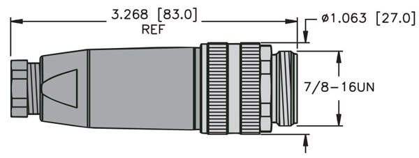 turck minifast field wireable male connector profile