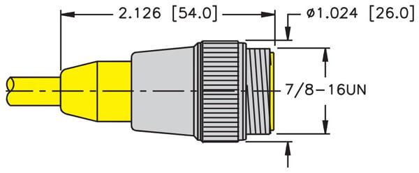 turck minifast standard straight male cordset dimensions