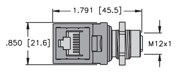 turck rj45 to 4 wire connector profile