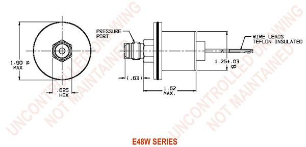 UE Precision Sensors E48W Series Dimensions