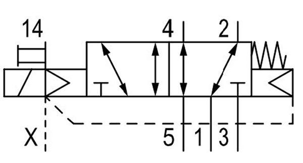 valin ac-5vlv-0006 5/2 directional valve series av03 drawing