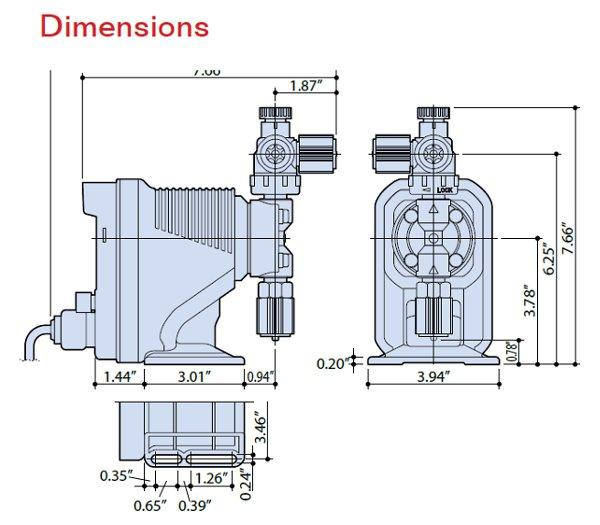 walchem ej series pump meter