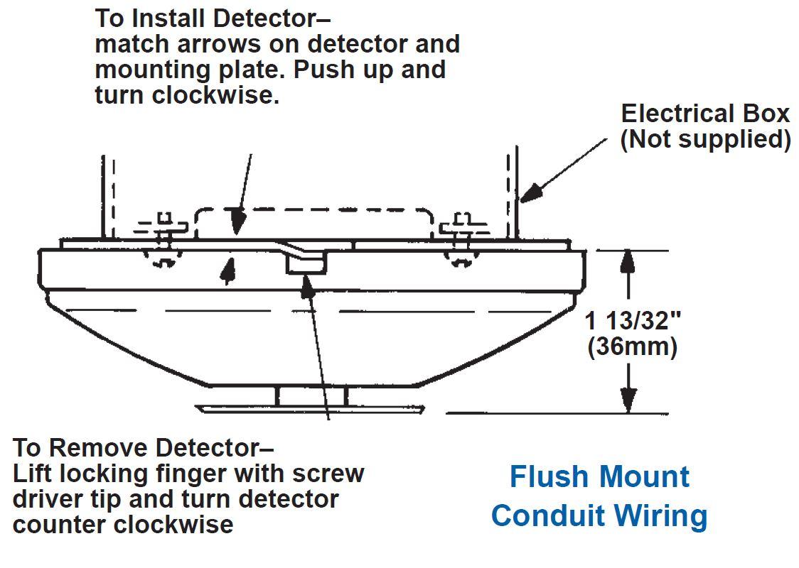 Kidde 280 series heat detector dimensions