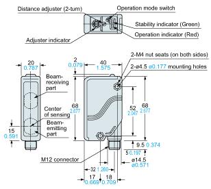panasonic eq30j sensor dimensions