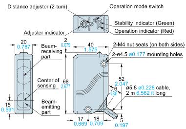 panasonic eq34 sensor dimensions