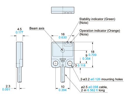 panasonic ex21 sensor dimensions